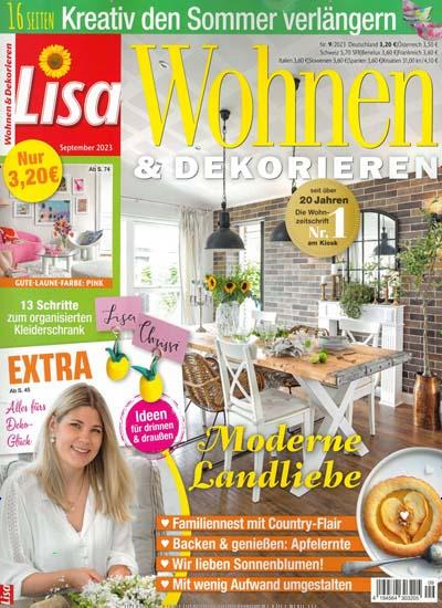 zeitschrift lisa wohnen dekorieren im abo kaufen f r 34 80. Black Bedroom Furniture Sets. Home Design Ideas