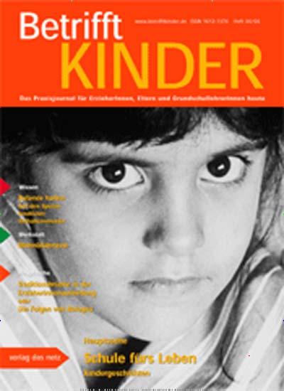 Cover Betrifft KINDER Zeitschrift