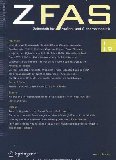 Zeitschrift f�r Au�en- und Sicherheitspolitik