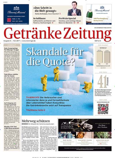 Getränke Zeitung im Abo ab 116,99€