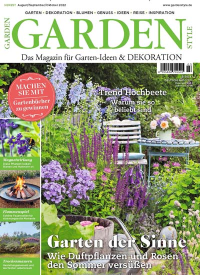 Zeitschrift Dekoration garden style im abo ab 21 00