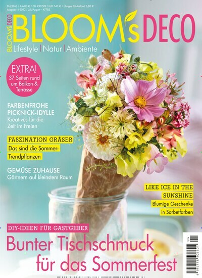 Abo Gartenzeitschrift blooms deco as a subscription starting from 30 00