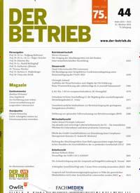 Cover: DER BETRIEB
