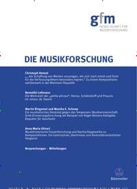 Cover: Die Musikforschung