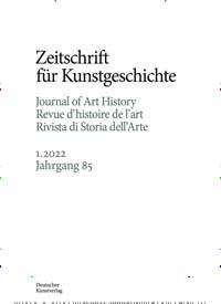 Cover: Zeitschrift für Kunstgeschichte