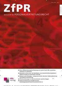 Cover: Zeitschrift für Personalvertretungsrecht (ZfPR)