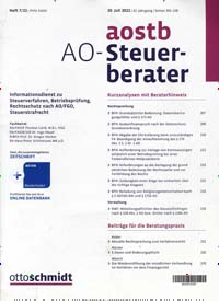 Cover: Der AO-Steuer-Berater