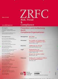 Cover: ZRFC - Zeitschrift Risk, Fraud & Compliance