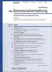 Cover: Die Kommunalverwaltung Brandenburg
