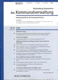 Cover: Die Kommunalverwaltung Mecklenburg-Vorpommern