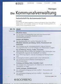 Cover: Die Kommunalverwaltung Thüringen
