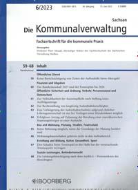 Cover: Die Kommunalverwaltung Sachsen