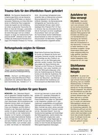 Titelbild der Ausgabe 6/2019 von Trauma-Sets für den öffentlichen Raum gefordert. Zeitschriften als Abo oder epaper bei United Kiosk online kaufen.
