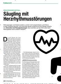 Titelbild der Ausgabe 6/2019 von PÄDIATRISCHER NOTFALL: Säugling mit Herzrhythmusstörungen. Zeitschriften als Abo oder epaper bei United Kiosk online kaufen.