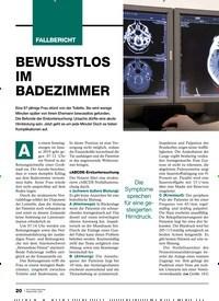Titelbild der Ausgabe 2/2020 von Hirnblutung: BEWUSSTLOS IM BADEZIMMER. Zeitschriften als Abo oder epaper bei United Kiosk online kaufen.
