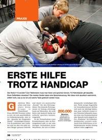 Titelbild der Ausgabe 2/2020 von ERSTE HILFE TROTZ HANDICAP. Zeitschriften als Abo oder epaper bei United Kiosk online kaufen.