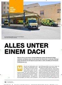 Titelbild der Ausgabe 1/2020 von Rettungsdienst auf Malta: ALLES UNTER EINEM DACH. Zeitschriften als Abo oder epaper bei United Kiosk online kaufen.