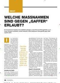 """Titelbild der Ausgabe 1/2020 von WELCHE MASSNAHMEN SIND GEGEN """"GAFFER"""" ERLAUBT?. Zeitschriften als Abo oder epaper bei United Kiosk online kaufen."""