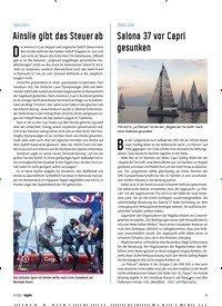 Titelbild der Ausgabe 70/2021 von Salona 37 vor Capri gesunken. Zeitschriften als Abo oder epaper bei United Kiosk online kaufen.
