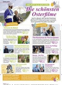 Titelbild der Ausgabe 7/2020 von EXKLUSIV: UND JETZT ALLE AUFS SOFA!: Die schönsten Osterfilme. Zeitschriften als Abo oder epaper bei United Kiosk online kaufen.