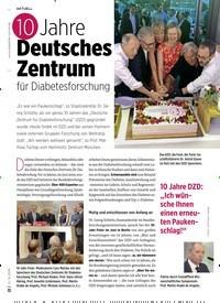 Titelbild der Ausgabe 8/2019 von 10 Jahre Deutsches Zentrum für Diabetesforschung. Zeitschriften als Abo oder epaper bei United Kiosk online kaufen.