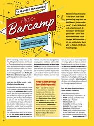 Titelbild der Ausgabe 10/2019 von 12.10.2019   FRANKFURT: Hypo-Barcamp. Zeitschriften als Abo oder epaper bei United Kiosk online kaufen.