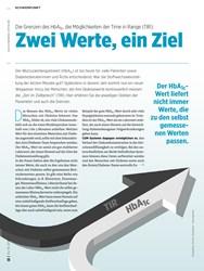 Titelbild der Ausgabe 10/2019 von Die Grenzen des HbA1c, die Möglichkeiten der Time in Range (TIR): Zwei Werte, ein Ziel. Zeitschriften als Abo oder epaper bei United Kiosk online kaufen.