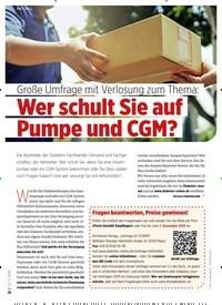Titelbild der Ausgabe 11/2019 von Große Umfrage mit Verlosung zum Thema: Wer schult Sie auf Pumpe und CGM?. Zeitschriften als Abo oder epaper bei United Kiosk online kaufen.