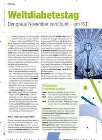 Titelbild der Ausgabe 11/2019 von Weltdiabetestag. Zeitschriften als Abo oder epaper bei United Kiosk online kaufen.