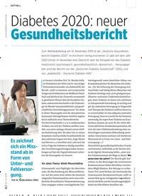 Titelbild der Ausgabe 12/2019 von Diabetes 2020: neuer Gesundheitsbericht. Zeitschriften als Abo oder epaper bei United Kiosk online kaufen.