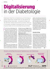 Titelbild der Ausgabe 1/2020 von Digitalisierung in der Diabetologie. Zeitschriften als Abo oder epaper bei United Kiosk online kaufen.