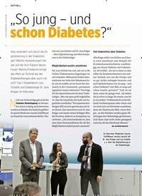 """Titelbild der Ausgabe 1/2020 von """"So jung – und schon Diabetes?"""". Zeitschriften als Abo oder epaper bei United Kiosk online kaufen."""