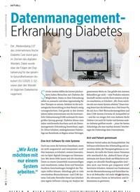 Titelbild der Ausgabe 2/2020 von Datenmanagement-Erkrankung Diabetes. Zeitschriften als Abo oder epaper bei United Kiosk online kaufen.