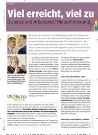 Titelbild der Ausgabe 2/2020 von Viel erreicht, viel zutun: Diabetes und Arbeitswelt: Herausforderung!. Zeitschriften als Abo oder epaper bei United Kiosk online kaufen.