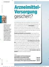 Titelbild der Ausgabe 6/2020 von Arzneimittel-Versorgung gesichert?. Zeitschriften als Abo oder epaper bei United Kiosk online kaufen.
