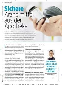 Titelbild der Ausgabe 6/2020 von Sichere Arzneimittel aus der Apotheke. Zeitschriften als Abo oder epaper bei United Kiosk online kaufen.