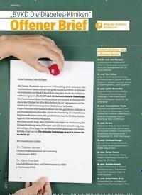 """Titelbild der Ausgabe 8/2020 von """"BVKD Die Diabetes-Kliniken"""": Offener Brief. Zeitschriften als Abo oder epaper bei United Kiosk online kaufen."""