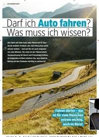 Titelbild der Ausgabe 8/2020 von Darf ich Auto fahren? Was muss ich wissen?. Zeitschriften als Abo oder epaper bei United Kiosk online kaufen.
