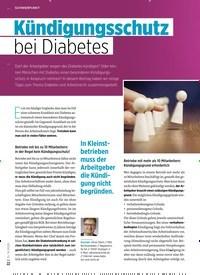 Titelbild der Ausgabe 8/2020 von Kündigungsschutz bei Diabetes. Zeitschriften als Abo oder epaper bei United Kiosk online kaufen.