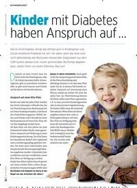 Titelbild der Ausgabe 8/2020 von Kinder mit Diabetes haben Anspruch auf …. Zeitschriften als Abo oder epaper bei United Kiosk online kaufen.