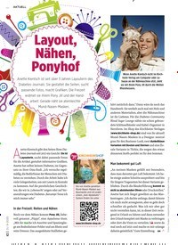Titelbild der Ausgabe 9/2020 von Layout, Nähen, Ponyhof. Zeitschriften als Abo oder epaper bei United Kiosk online kaufen.