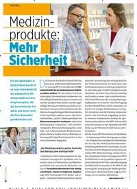 Titelbild der Ausgabe 9/2020 von Medizinprodukte: Mehr Sicherheit. Zeitschriften als Abo oder epaper bei United Kiosk online kaufen.