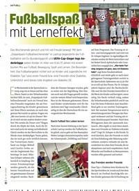 Titelbild der Ausgabe 10/2020 von Fußballspaß mit Lerneffekt. Zeitschriften als Abo oder epaper bei United Kiosk online kaufen.