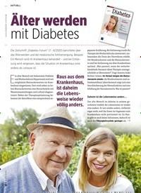 Titelbild der Ausgabe 11/2020 von Älter warden mit Diabetes. Zeitschriften als Abo oder epaper bei United Kiosk online kaufen.