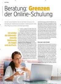 Titelbild der Ausgabe 12/2020 von Beratung: Grenzen der Online-Schulung. Zeitschriften als Abo oder epaper bei United Kiosk online kaufen.