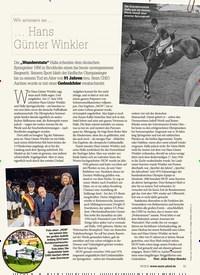 Titelbild der Ausgabe 90/2018 von Wir erinnern an …: … Hans Günter Winkler. Zeitschriften als Abo oder epaper bei United Kiosk online kaufen.