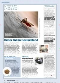 Titelbild der Ausgabe 110/2018 von GESUNDHEIT: NEWS: Erster Fall in Deutschland. Zeitschriften als Abo oder epaper bei United Kiosk online kaufen.