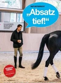 """Titelbild der Ausgabe 10/2019 von REITUNTERRICHT: """"Absatz tief!"""" – oder doch nicht?. Zeitschriften als Abo oder epaper bei United Kiosk online kaufen."""