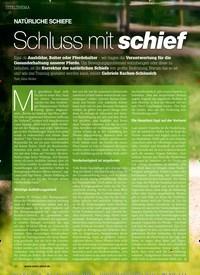 Titelbild der Ausgabe 20/2019 von NATÜRLICHE SCHIEFE: Schluss mit schief. Zeitschriften als Abo oder epaper bei United Kiosk online kaufen.