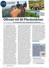 Titelbild der Ausgabe 20/2019 von GLOBETROTTER: Offroad mit 90 Pferdestärken. Zeitschriften als Abo oder epaper bei United Kiosk online kaufen.